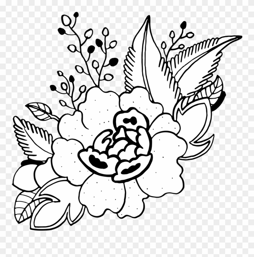 Free Png Hand Drawn Floral Bouquets Floral Design Clipart 4952715 Pinclipart
