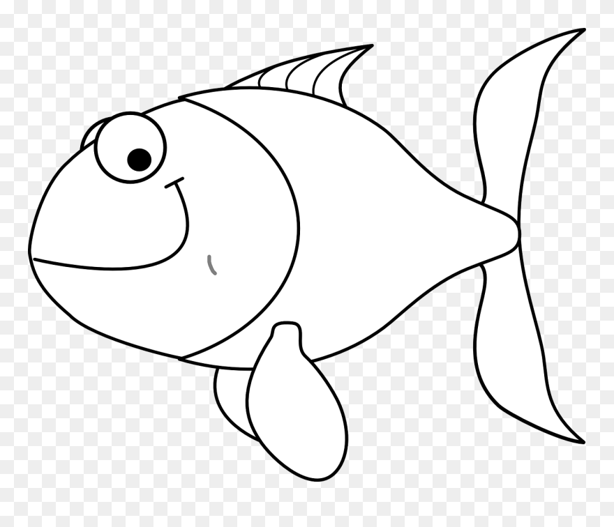 Fish Coloring Pages For Kids Black And White Fish In Water Clipart Png Download 5453285 Pinclipart