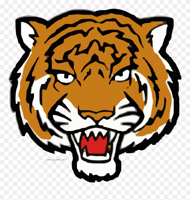 But Angry Tiger Face Clipart Png Image Www - Tiger Face Coloring