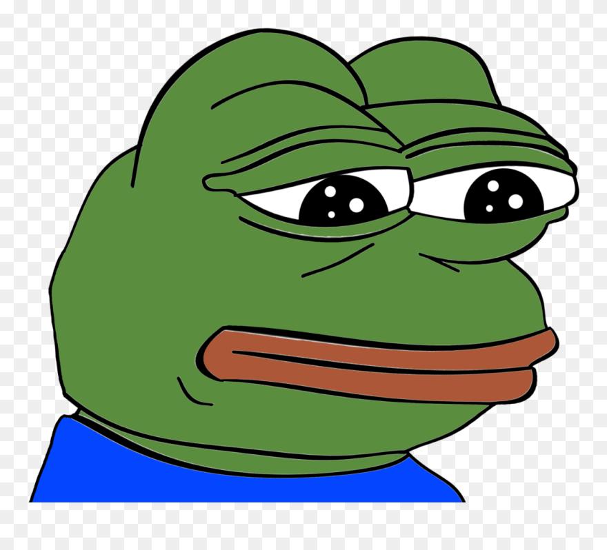 Feels Frog Meme Vinyl Sticker Frog Meme Face Png Clipart