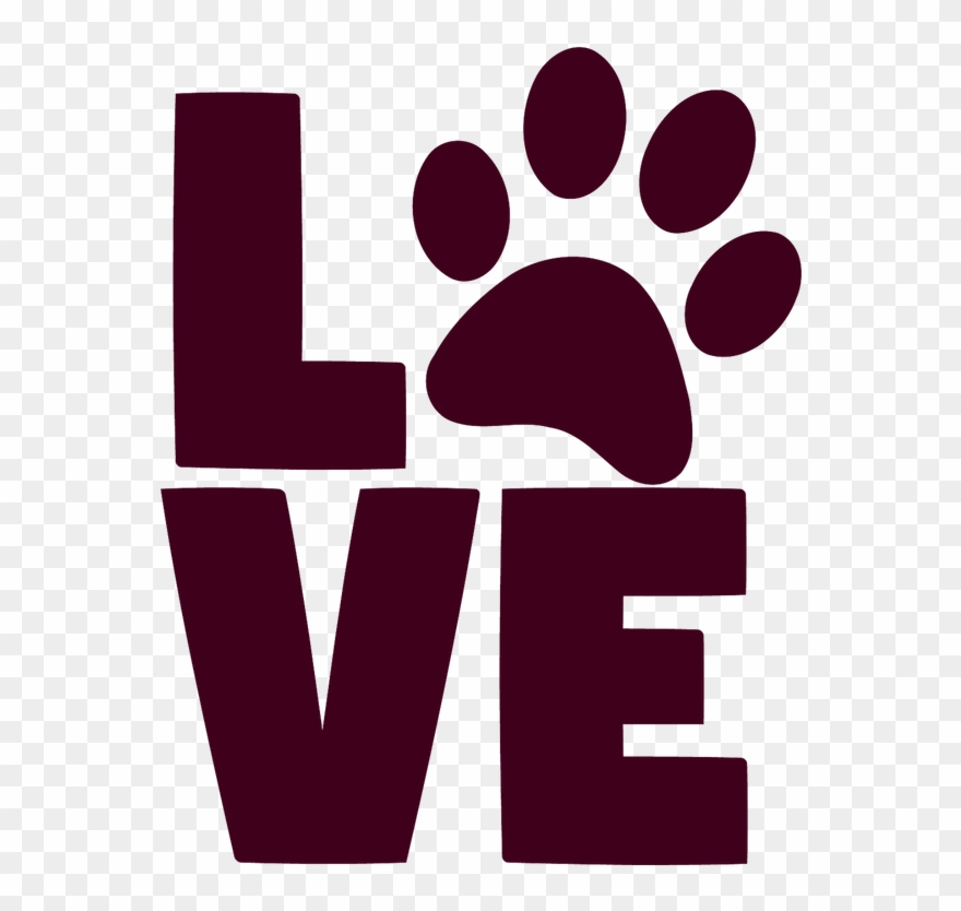 Download We Are Proud To Be Mlg We Will Be - Love With Paw Print ...