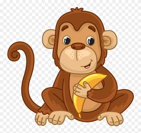 Affe Mit Banane Clipart - Мавпа Клипарт - Png Download (#5750553) -  PinClipart