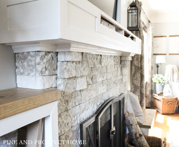 Brick Fireplace Makeover With Airstone Pine And Prospect
