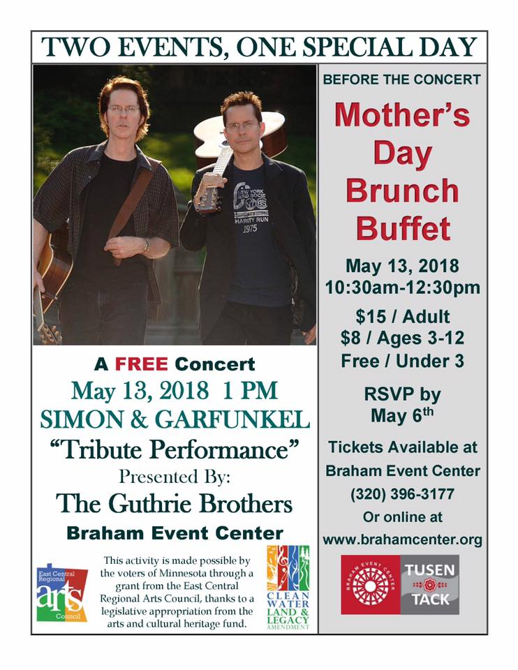 Braham Event Center Mother's Day Events Flyer