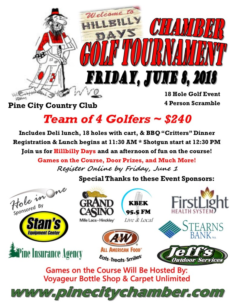 Golf Poster for 2018 Chamber Tournament