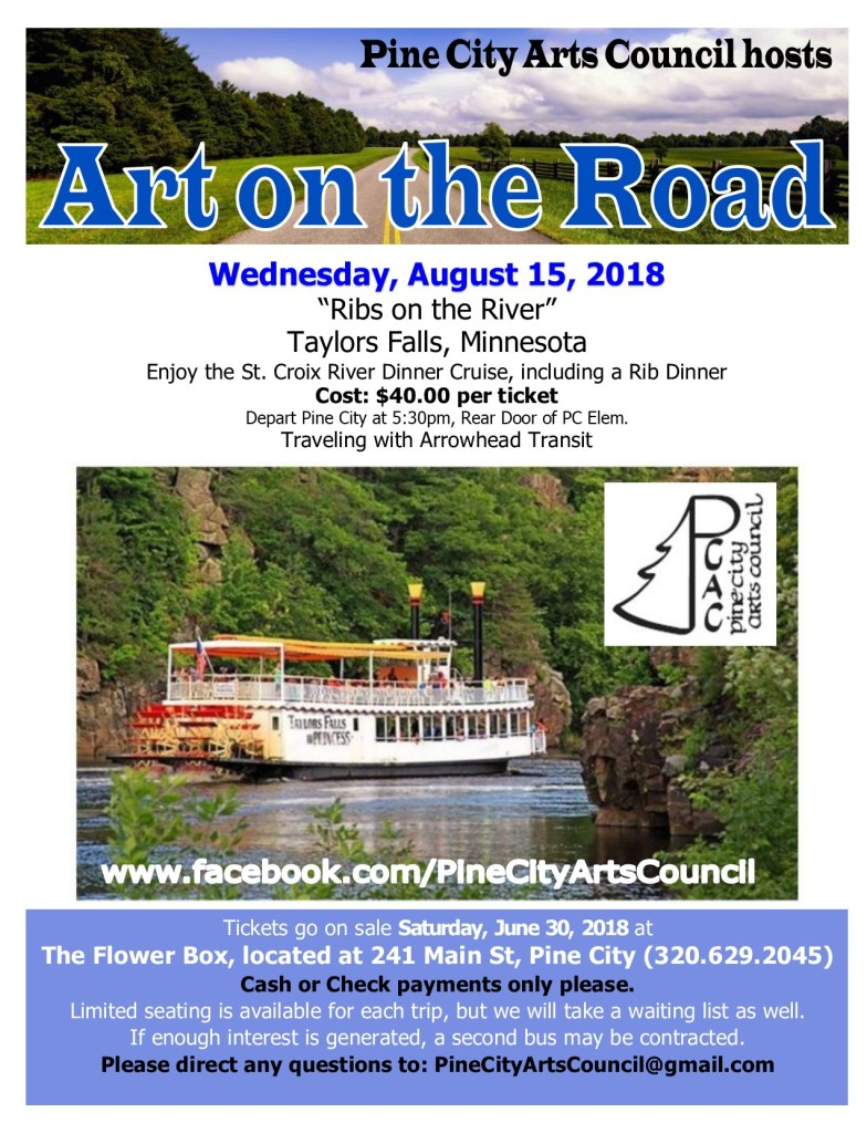 August 15th Dinner Cruise Flyer