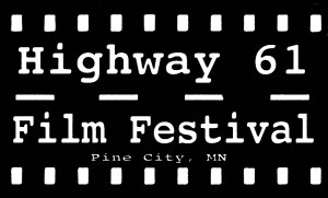 Black & white logo for Hwy 61 film festival
