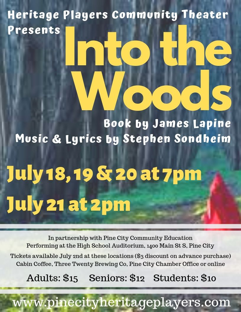 "Promotional Flyer for ""Into the Woods"""