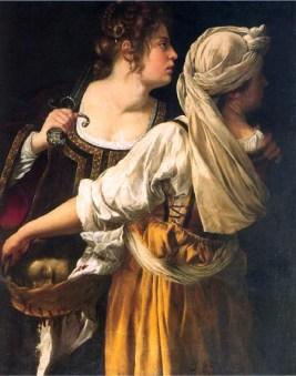 Figure 3 Judith and Her Maidservant, 1613 Artemisia Gentileschi,