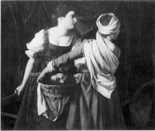 Figure 4 Judith and Her Maidservant,ca1616 Orazio Gentileschi,