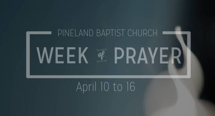 A Week of Prayer - Thursday