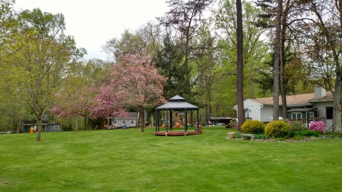 Club overview: The beautiful grounds of Pine Tree Associates nudist club.