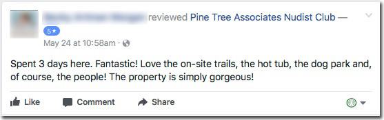 Reviews: Pine Tree Associates Nudist Club - Facebook review #4