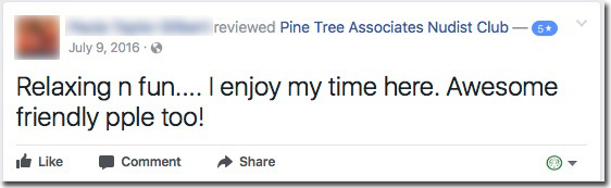 Reviews: Pine Tree Associates Nudist Club - Facebook review #6