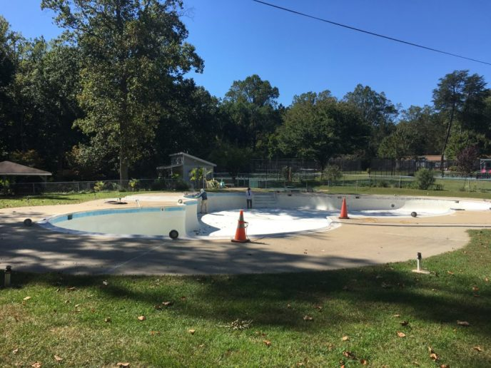 Pine tree pool refurbished