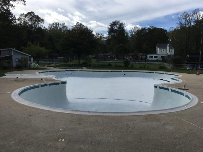 Pine Tree pool refurbished.