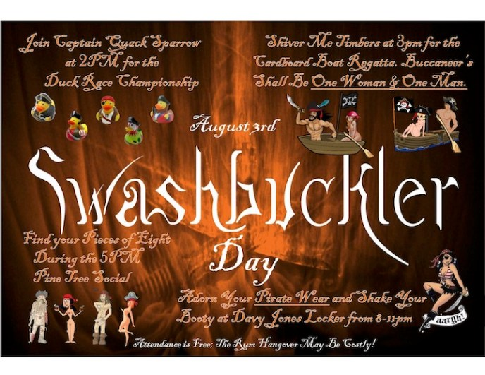 Swashbuckler information flyer.
