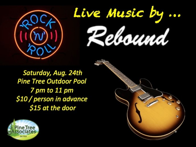 Rebound band plays at Pine Tree on Aug. 24, 2019.
