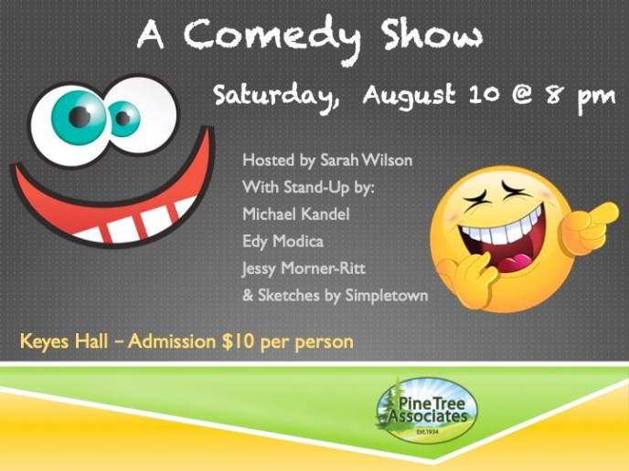 A Comedy Show flyer.