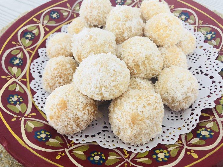 Marokkaanse kokoskoekjes met confituur