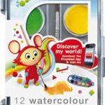 set 12 kleuren waterverf
