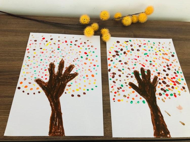 Herfstboom knutselen herfst thema peuters herfstactiviteit knutsel ideeën-4