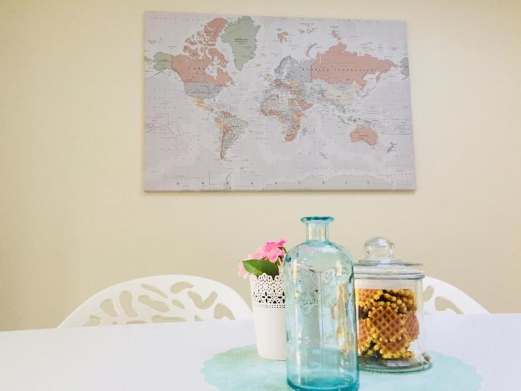 Review wereldkaart wanddecoratie - wereldkaart op canvas