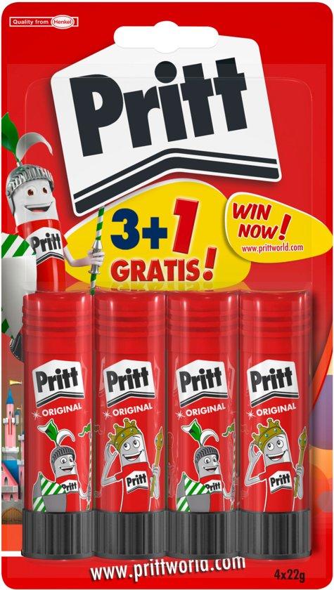 Pritt Stick Original - 3+1 gratis - 4 x 22 Gram - Pritt stift