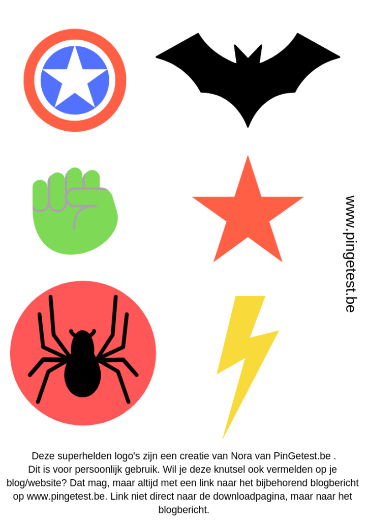 Superhelden logo's - gratis download PinGetest