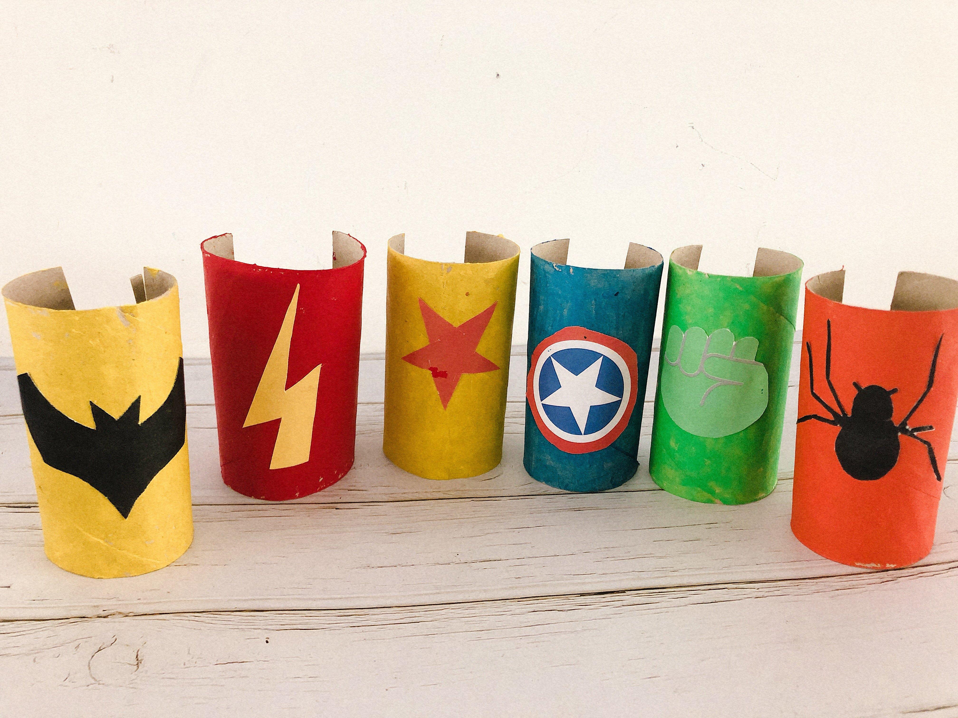 Beste Superhelden armband knutselen   Knutselideeën thema Superhelden TJ-48