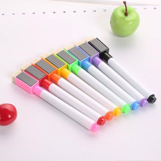 Affil: whiteboard stiften magnetisch met wisser 8 stuks