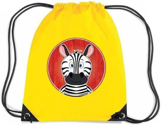 Zebra rugtas gymtas geel