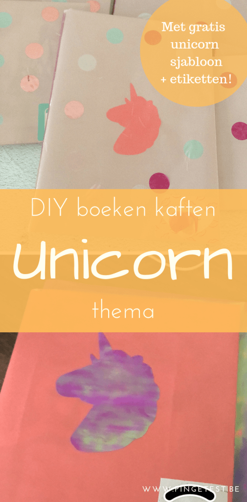 DIY boeken kaften in unicorn thema met gratis download sjabloon en etiketten 2