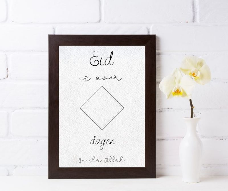 Eid aftelkalender poster printable A4 afdrukken printen instant download Basic