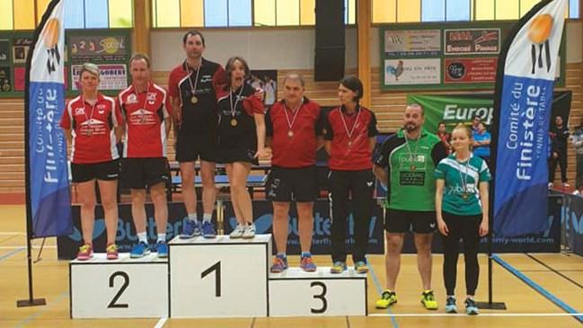 Troisième place en double Mixte pour Virginie Bailly et Bruno Raphalen
