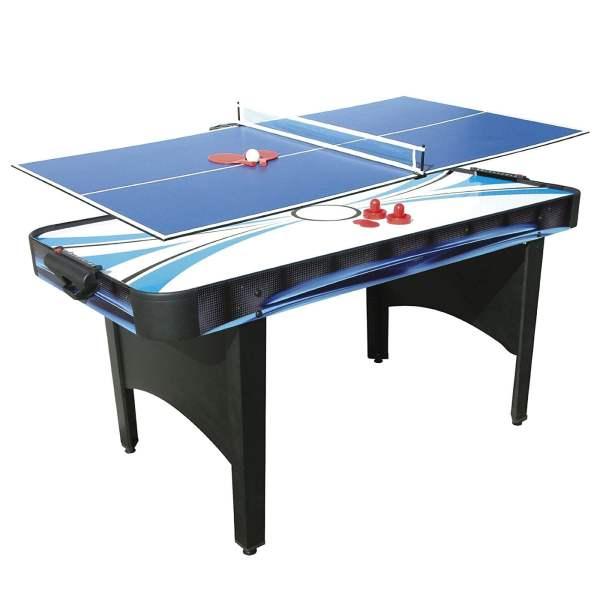 Mightymast 6ft Typhoon 2-in-1 Air Hockey Table Tennis Table