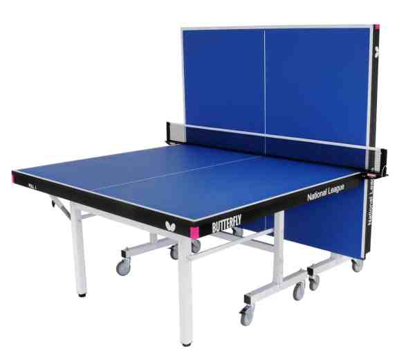 Butterfly National League 25 Blue Rollaway Table Playback