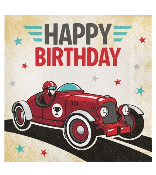 Servietten Oldtimer Rennwagen Happy Birthday 16 Stuck