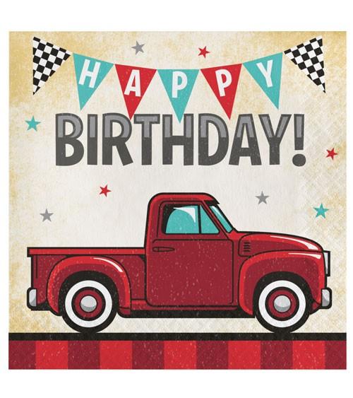 Servietten Pickup Oldtimer Happy Birthday 16 Stuck