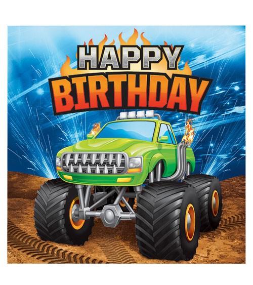 Servietten Monster Truck Show Happy Birthday 16 Stuck