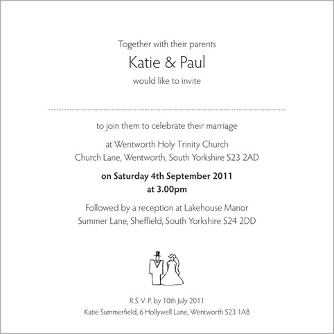 Bride And Groom Invites Midway Media