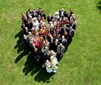 Fotografia ślubna z drona
