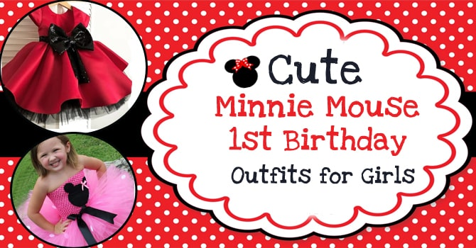 Cute Minnie Mouse Birthday Dresses For Girls First Birthday Outfits
