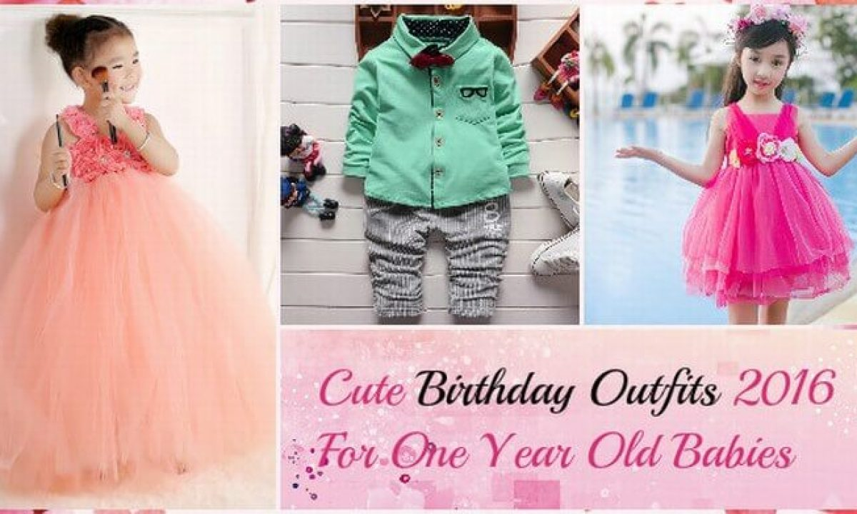 7 Cutest Smashing Birthday Outfits For One Year Old Babies