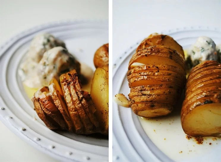 Pieczone ziemniaki z czosnkiem