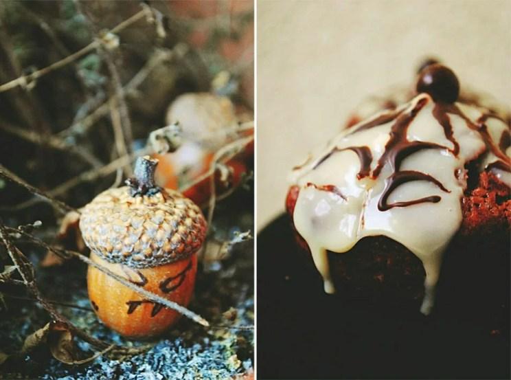Czekoladowe muffinki na halloween