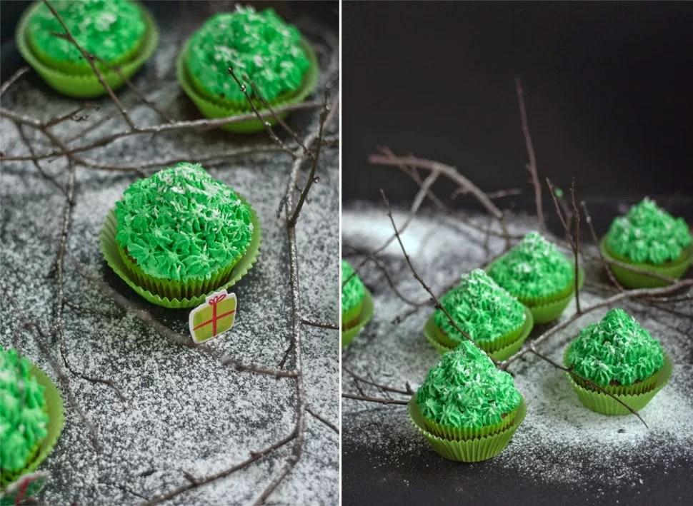 świąteczne muffinki choinki