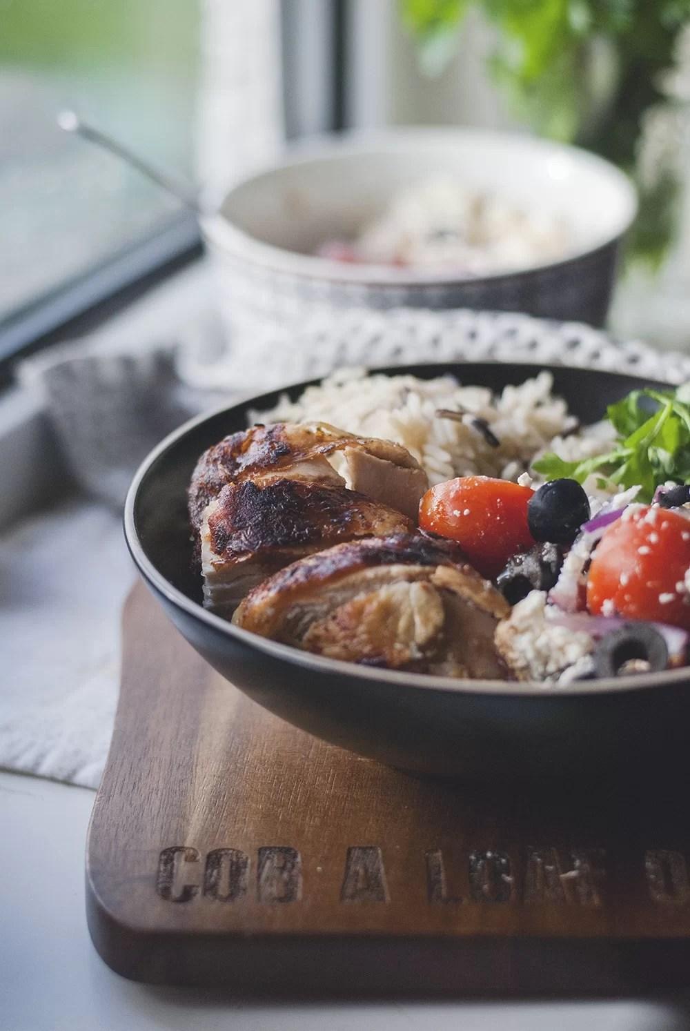 Piersi z kurczaka doprawione octem balsamicznym