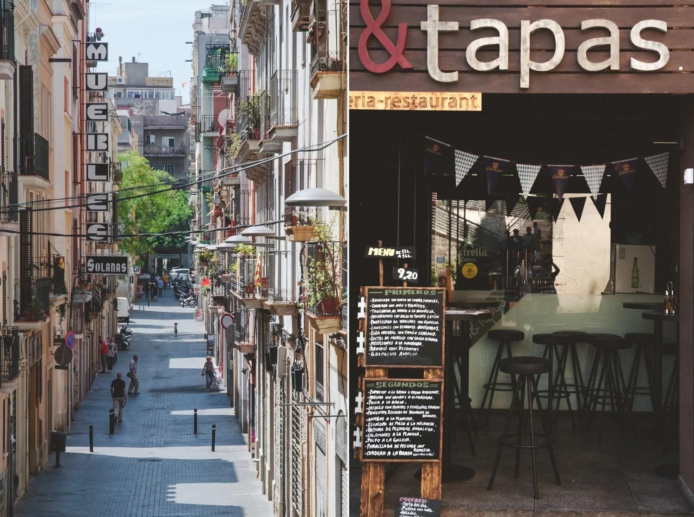 Ulice Barcelony restauracje, bary