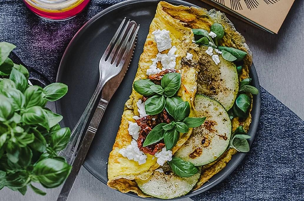 Prosty omlet z warzywami